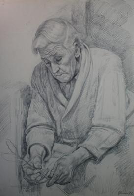 Дмитрий Дмитриевич Жилинский. «Мать» 1977 графитный карандаш