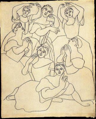 Pablo Picasso. Seven ballerinas