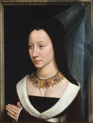 Hans Memling. Portrait Of Maria Portinari (Maria Maddalena Baroncelli)