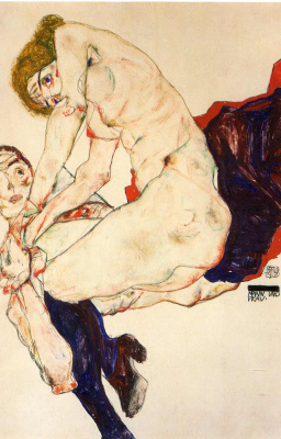 Egon Schiele. A man and a woman