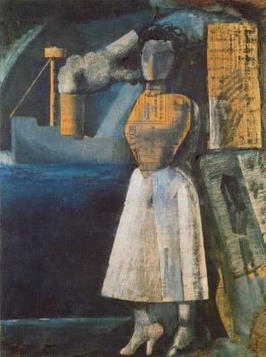 Марио Сирони. Женщина в белой юбке