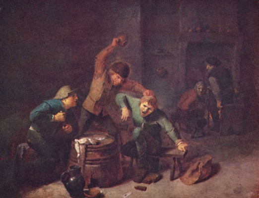 Adrian Brower. Fight the peasants at the card game