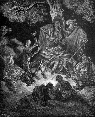 Paul Gustave Dore. Illustration for M.Servantes' novel Don Quixote