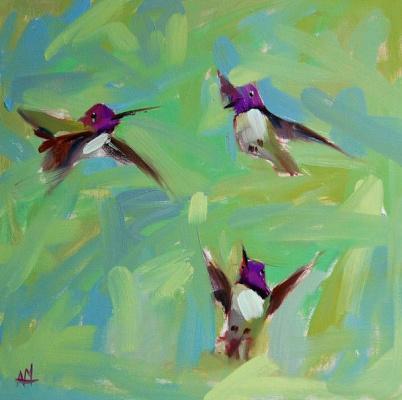 Анджела Моултон. Три колибри
