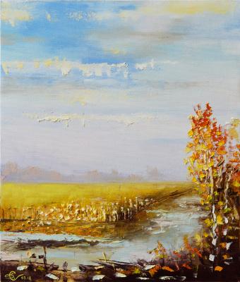 Autumn puddles