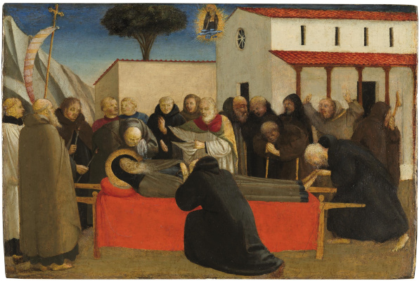 Fra Beato Angelico. The funeral of saint anthony