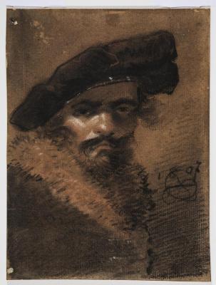 Александр Осипович Орловский. Автопортрет.