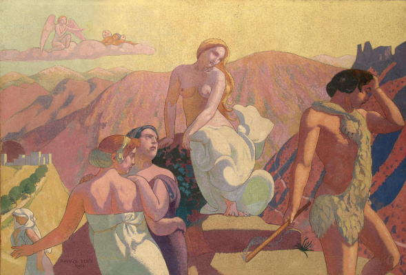 Maurice Denis. Family leave psyche on a mountain top