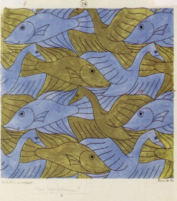 Maurits Cornelis Escher. Bird, Fish (No. 34)