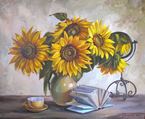 Dariya Zakharova. Sunflowers