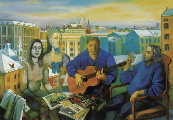 Tatyana Grigorievna Nazarenko. Moscow evening. 25 years later