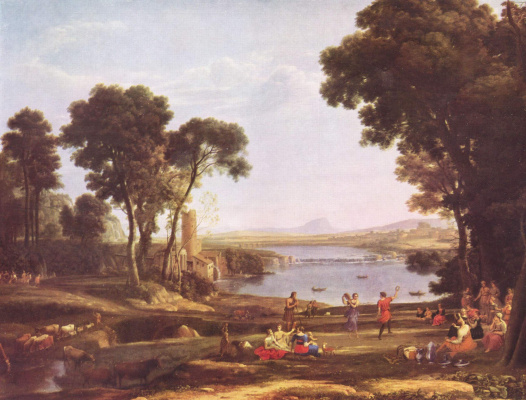 Claude Lorrain. Landscape with the marriage of Isaac and Rebekah