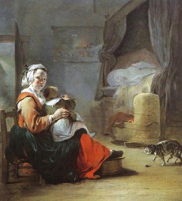 Ян Баптист Веникс. Мать с ребенком