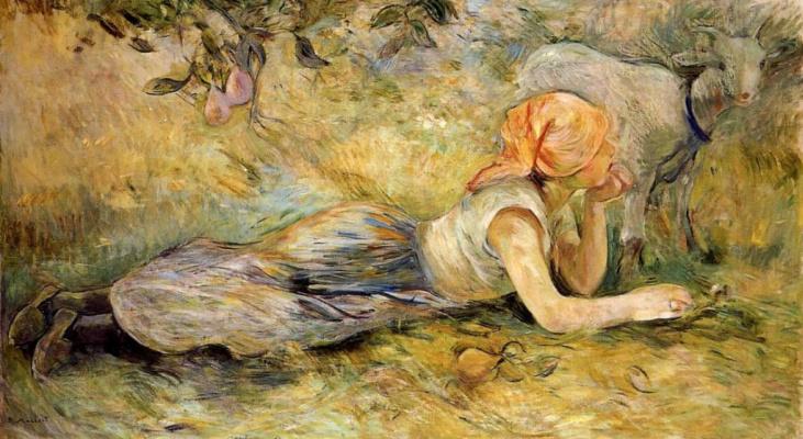 Berthe Morisot. Lying cowgirl
