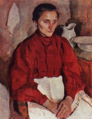 Zinaida Serebryakova. Portrait of a baby sitting