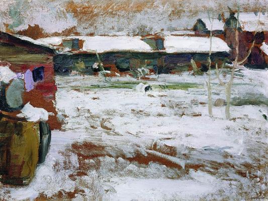 Abram Arkhipov. Winter. The backyard