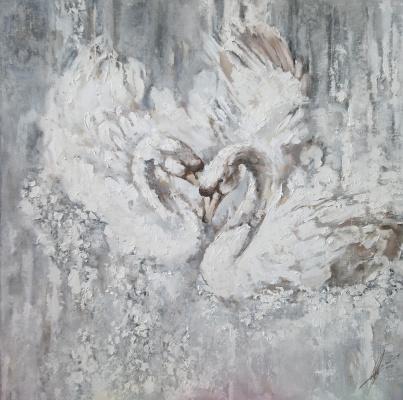 Olga Shatskaya. Swans