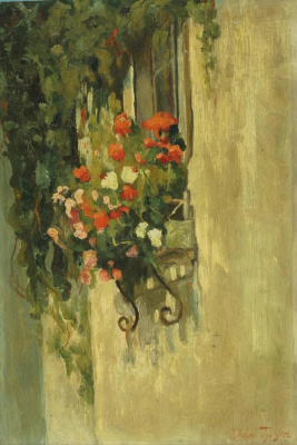 Ivan Ivanovich Trush. Flowers on the window