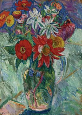 Абрам Аншелевич Маневич. Bright flowers