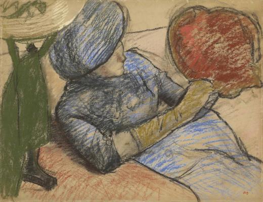 Эдгар Дега. Женщина со шляпой в руках