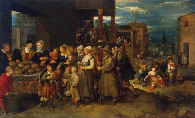 Frans Franken the Younger. Seven cases of mercy. 1613-1617