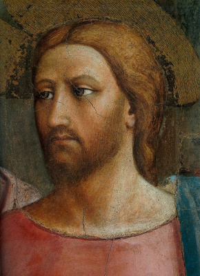 Tommaso Masaccio. Miracle with a statir (Payment of taxes). Christ