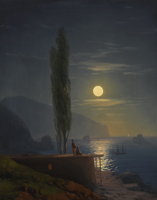 Ivan Constantinovich Aivazovski. Figures on a moonlit coast