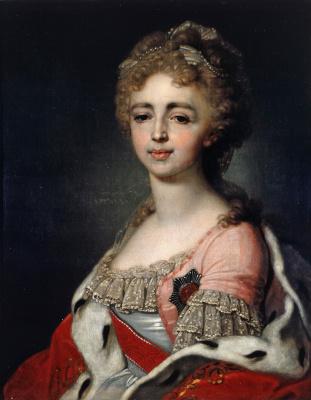 Vladimir Lukich Borovikovsky. Portrait of Grand Princess Plexandra Pavlovna. 1798