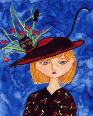 Деби Хаббс. Девушка в шляпке