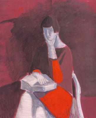Андрей Владимирович Васнецов. Ирина читает книгу