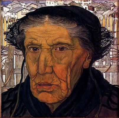 Эрнест Билер. Пожилая женщина