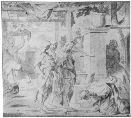 Себастьян Бурдон. Авраам и три ангела