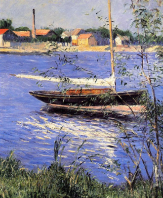 Gustave Caillebotte. Boats on the Seine at Argenteuil