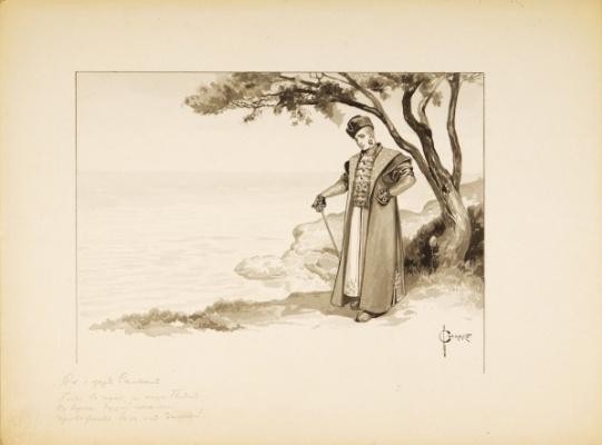 "Sergey Sergeyevich Solomko. ""The tale of Tsar Saltan"" 1890-1900"