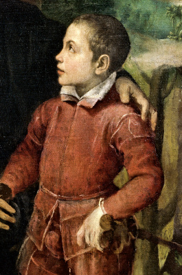 Sofonisba Anguissola. Portrait of the family of the artist. Fragment. Brother asdrubal