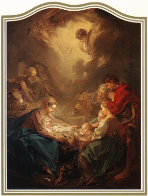 Francois Boucher. The adoration of the shepherds