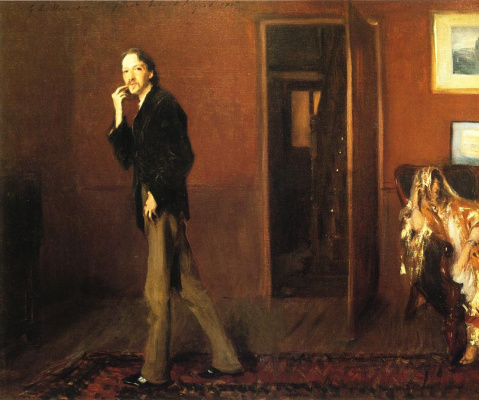 John Singer Sargent. Robert Louis Stevenson and his wife