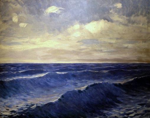 Pál Szinyei Merse. Blue ocean