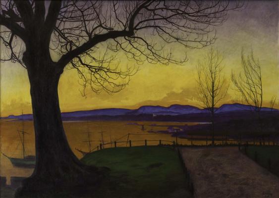 Harald Oscar Solberg. Spring Evening