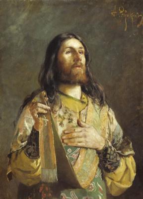 Andrei Petrovich Ryabushkin. Deacon 1888 Sketch