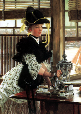 James Tissot. The tea party