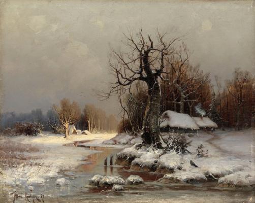 Julius Klever. Thaw (March)