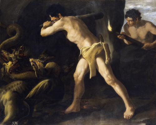 Francisco de Zurbaran. The battle of Heracles with the Lernaean Hydra