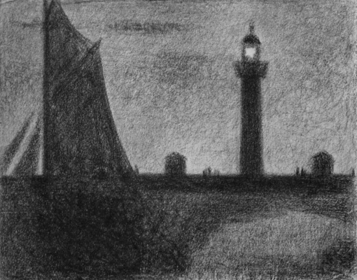 Georges Seurat. The lighthouse at Honfleur