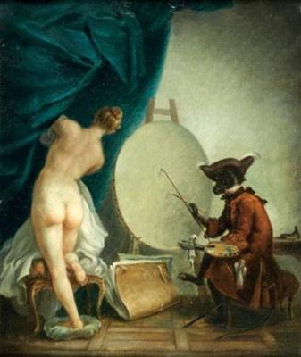 Жан Батист Симеон Шарден. Обезьяна-живописец