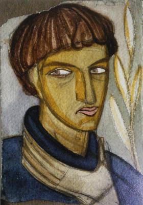 Михаил Львович Бойчук. Портрет Василия Седляра (ученика Бойчука)