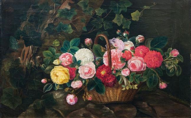 Отто Дидрик Оттесен. Цветы в корзине