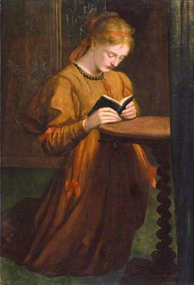 George Frederick Watts. Portrait of a praying (Sarah Prinsep)