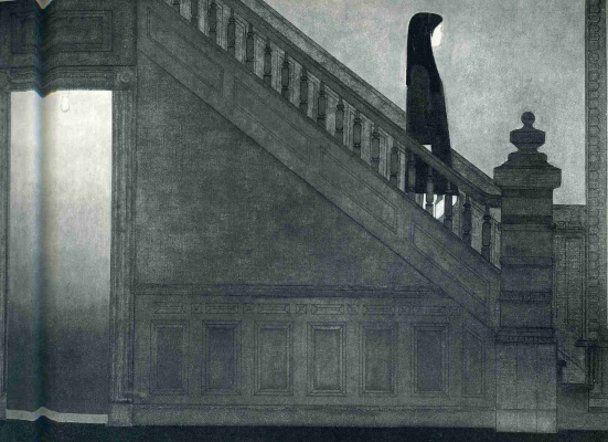 Will Barnet. The girl on the stairs
