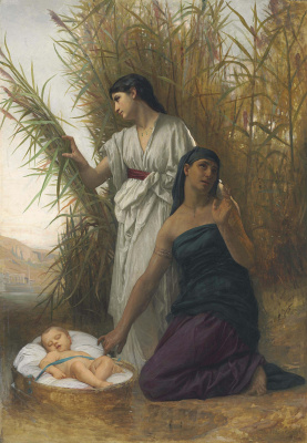 Elizabeth Gardner Bugro. Moses in the Bulrushes